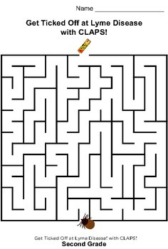 Get Ticked Off at Lyme Disease! Second Grade Maze