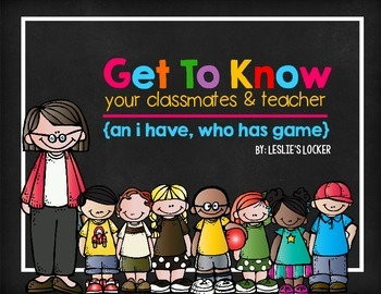 Get To Know Each Other (A Back To School I Have, Who Has Game)