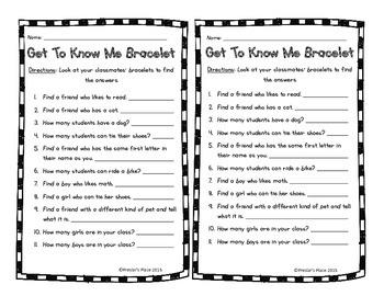 Get To Know Me Bracelet