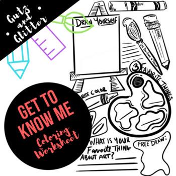 Get To Know Me - Coloring Worksheet