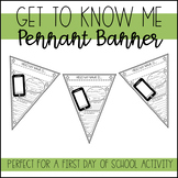 Get To Know Me Pennant Banner #digitaldollarspot