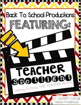 Get To Know The Teacher Bingo