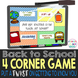 Back to School 4 Corner Game