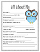 Get To Know You - Activity Pack - First Day of School