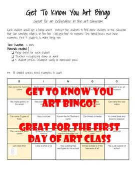 Get To Know You Art Bingo