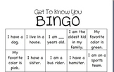 Get To Know You Bingo