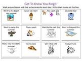 Back to school - Get To Know You Bingo