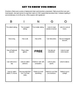 Get To Know You Bingo Sheets (Bilingual, ESL)