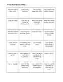 Get-To-Know-You Bingo