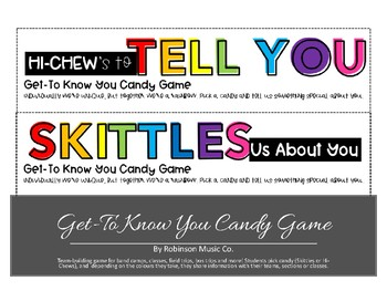 Get-To-Know-You Candy Game
