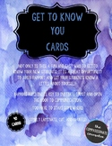 Get To Know You Cards!