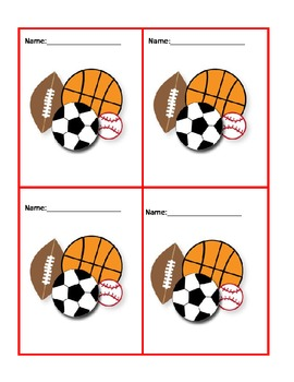 Get To Know You Cards/Grouping in P.E. Class graphics http://www.designerclipart