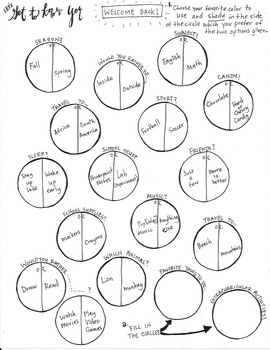 Get To Know You Coloring Sheet
