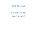 Get-To-Know-You Math Activity