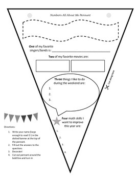 Get To Know You Pennant (created for my middle school math class!)