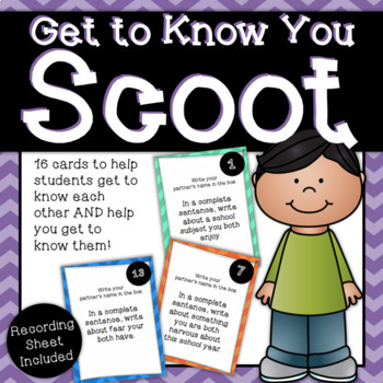 Get To Know You Scoot - A First Day of School Activity