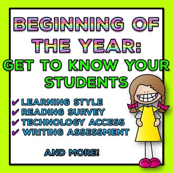 Beginning of the Year: Get to Know Your Students