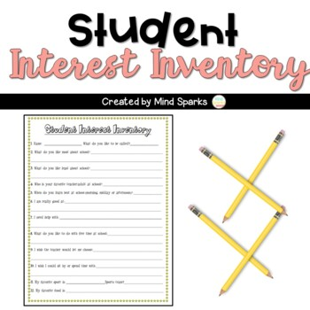 Get To Know Your Students---Interst Inventory