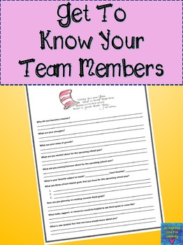 Get To Know Your Team Members