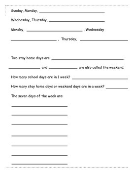 Get To Know the Days of the Week