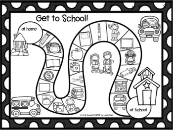 Get To School!:  Beginning Sounds No Prep Board Game