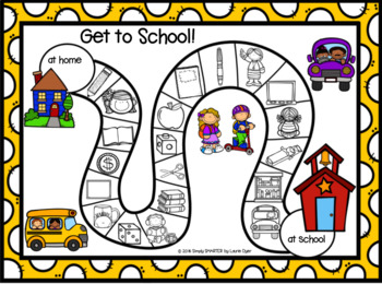 No Prep Back To School Themed Beginning Sounds Board Game