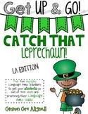 Get Up & Go! Language Arts Activities-Leprechaun Themed