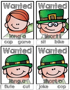 Get Up & Go! Language Arts Activities-Leprechaun Themed