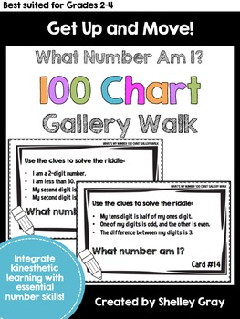 Get Up and Move! {A 100 Chart Gallery Walk}