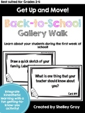 Get Up and Move! {A Back-to-School Gallery Walk}