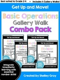 Get Up and Move! {A Basic Operations Gallery Walk COMBO PACK} BUNDLE