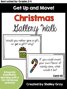 Get Up and Move! {A Christmas Gallery Walk}