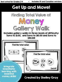 Get Up and Move! {A Finding Money Values Gallery Walk}