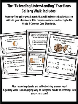 Get Up and Move! {A Fraction Gallery Walk COMBO PACK}