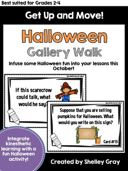 Get Up and Move! {A Halloween Gallery Walk}
