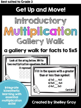 Get Up and Move! {An INTRODUCTORY Multiplication Gallery Walk}
