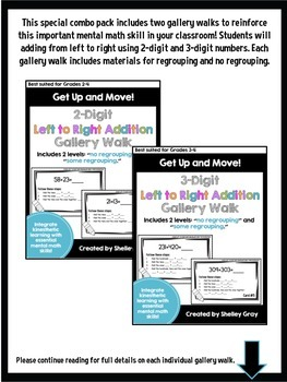 Get Up and Move! {A Left-to-Right Addition Gallery Walk COMBO PACK}