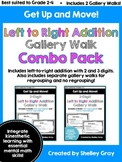 Get Up and Move! {A Left-to-Right Addition Gallery Walk COMBO PACK} BUNDLE
