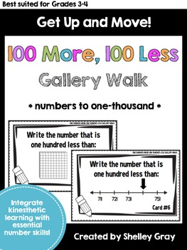 Get Up and Move! {A One Hundred More, One Hundred Less Gallery Walk}
