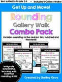 Get Up and Move! {A Rounding Gallery Walk COMBO PACK} BUNDLE