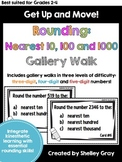 Get Up and Move! {A Rounding to the Nearest 10, 100 and 1000 Gallery Walk}