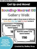 Get Up and Move! {A Rounding to the Nearest 100 Gallery Walk}