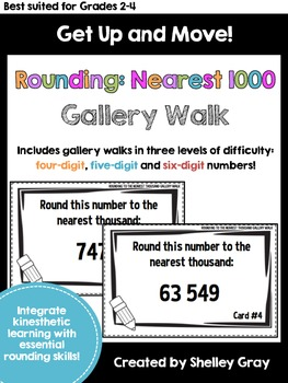 Get Up and Move! {A Rounding to the Nearest 1000 Gallery Walk}