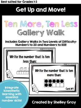 Get Up and Move! {A Ten More, Ten Less Gallery Walk}