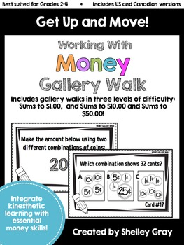 Get Up and Move! {A Working with Money Gallery Walk}