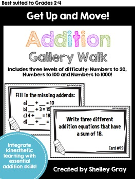 Get Up and Move! {An Addition Gallery Walk}