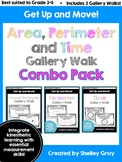Get Up and Move! {An Area, Perimeter and Time Gallery Walk Combo Pack} BUNDLE