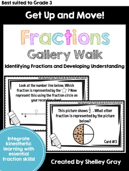 Get Up and Move! {An Identifying and Understanding Fractions Gallery Walk}