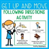 Get Up and Move Following Directions Activity