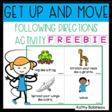 Get Up and Move Following Directions Freebie